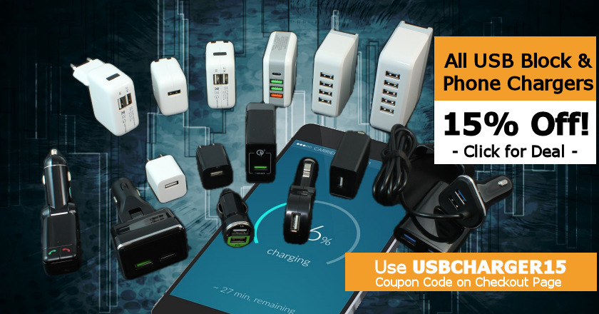 USB Charger 15% Off