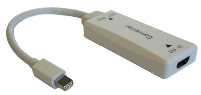 HDMI Female (Source) to Mini DisplayPort (Monitor) Male Adapter, White