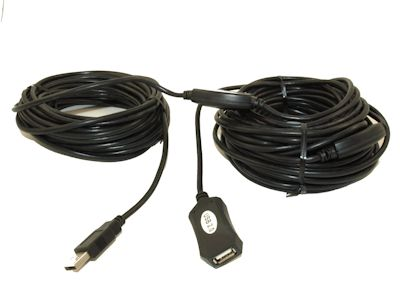 80ft USB 2.0 A Male to A Female Active Extension / Repeater Cable