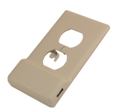SnapPower USB Charger 1000Ma,Single Gang Replacement Wallplate,Light Almond