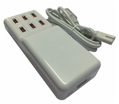 6 Port USB 12 Amp High Capacity Power Charger Center