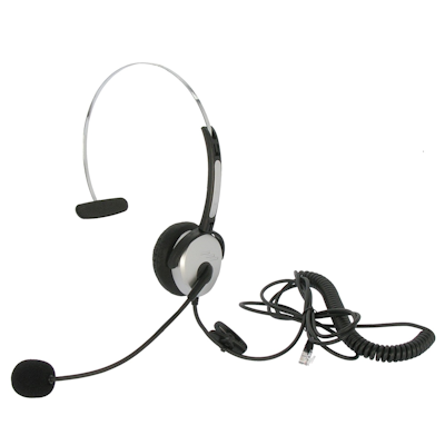 Headset with Microphone (for Office Phones) with RJ22 Plug