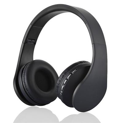 Premium Bluetooth-3 Stereo Headphone with Mic, FM Radio, MicroSD, Black