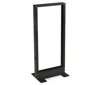 24U 48inch High 2 Post Relay Rack Floor Type