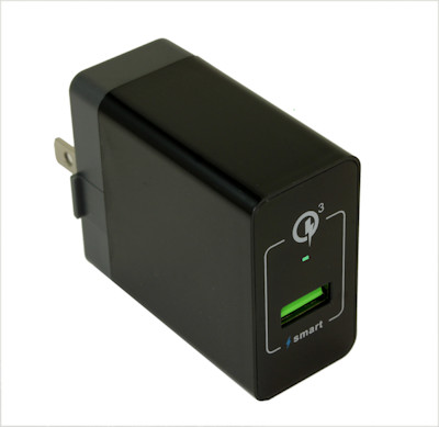 1 Port 110v/5v USB 3 Amp QUICK CHARGE (QC3.0) Charger